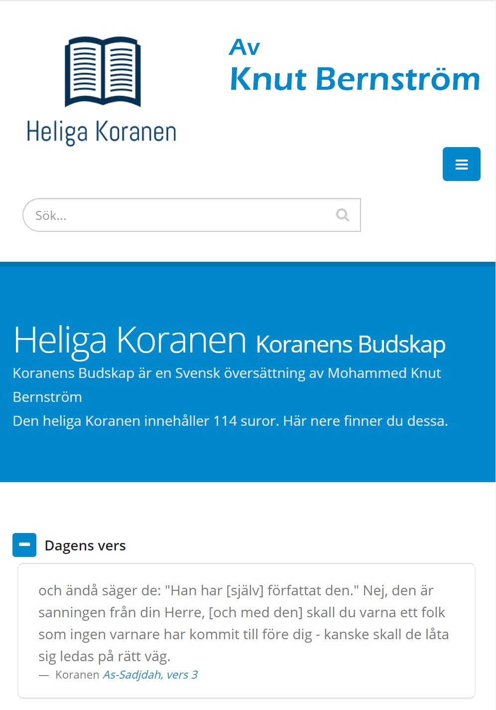 Heliga Koranen - Svensk